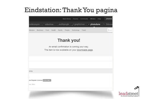 Waarom een Thank You-page zowel noodzakelijk als een opportuniteit is