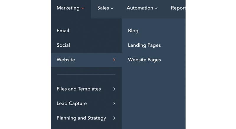 hubspot-nieuwe-navigatie-marketing
