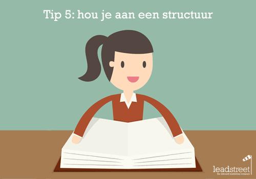content-schrijven-tip-5-hou-je-aan-een-structuur
