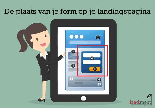 Conversie tips: waar plaats je een formulier op je landing page?
