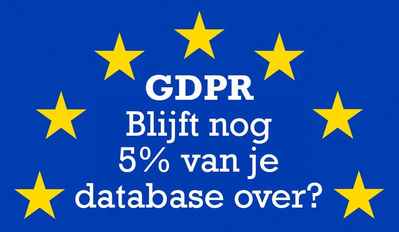 GDPR en het halveren van je database: Onzin? Of eerder 'So What'?